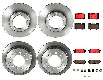 Rear Ceramic Slotted Brake Disc Pads Set Brembo for Lexus Toyota Land Crusier