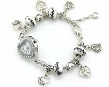 Watch Style Charm Bracelet Fit European Bead 20cm Free Ship WN023
