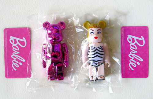 Series 21 Bearbrick S21 Chase Cute be@rbrick Barbie Secret Metallic Pink set 2P