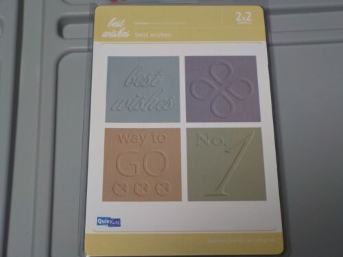 QUICKUTZ BEST WISHES 2X2 EMBOSSING FOLDERS EF-2X2-025 NEW A1350