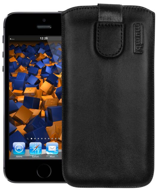 mumbi Ledertasche für Apple iPhone SE/5/5s/5c Tasche Hülle Etui Case Cover Handy