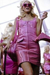 Image Is Loading 4995 Moschino Couture Jeremy Scott Shiny Pink Barbie