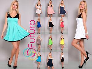 Gorgeous-Women-039-s-Mini-Dress-V-Neck-Skater-Dress-Sleeveless-Tunic-Size-8-12-8120
