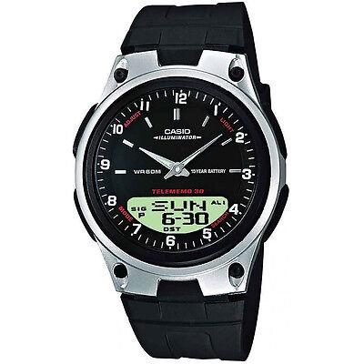 Casio Uhr AW-80-1A Analog Digitaluhr Herren Damen Schwarz Silber Watch NEU & OVP