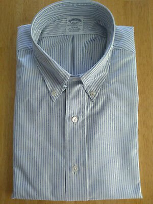 NWOT Brooks Brothers Blue University Stripe Oxford Cloth Button Down Traditional
