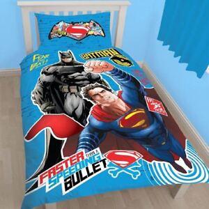 BATMAN-VS-SUPERMAN-CHOC-PANNEAU-COUETTE-SET-INDIVIDUEL-HOUSSE-DC-COMICS-LITERIE
