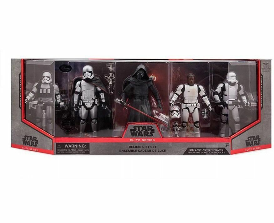 STAR WARS ELITE SERIES DELUXE GIFT SET DIE CAST ACTION FIGURE FINN KYLO REN NEW