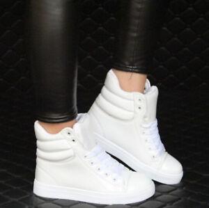 fecb55fafc57e Top para Mujer alta moda Tenis Con cordones Tacón Zapatos de baile ...
