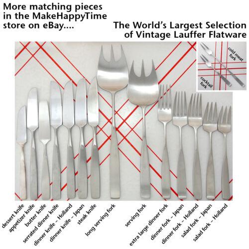 1 or more Lauffer Bedford Large Meat or Salad Serving Fork MidCentury 18//8 Steel