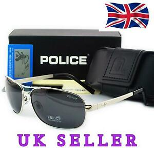 2019-Brand-New-Silver-Police-Men-039-s-Polarized-Driving-Aviator-Outdoor-Sunglasses