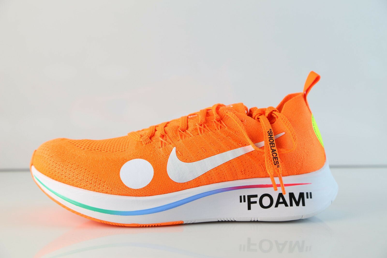 Nike Off-White Virgil Abloh Zoom Fly Mercurial FK Total orange AO2115-800 8-13