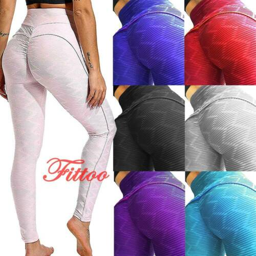 Women/'s Push Up Yoga Pants Anti-Cellulite Leggings Sports Fitness Gym Trousers L