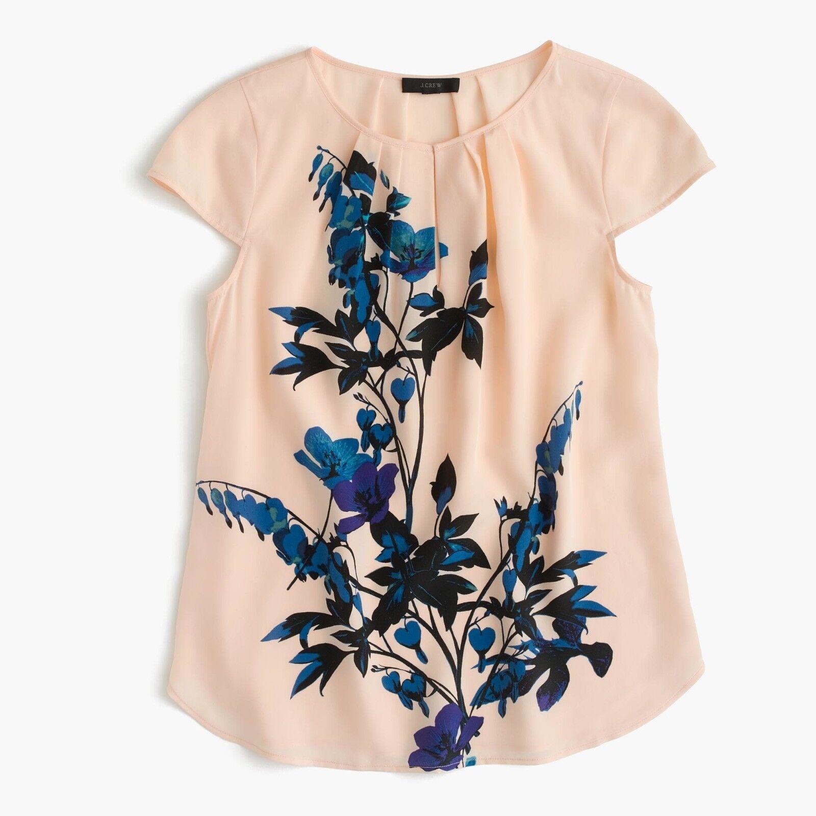 J.Crew Silk cap-sleeve top in midnight bloom - NWT  - Größe 00,0,2,4,6