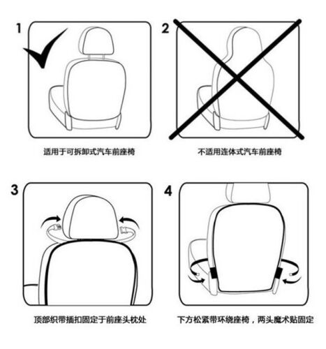 1x Ideal Car Auto Seat Back Rear Protector PVC Anti Stain Mud Cover Mat Pad