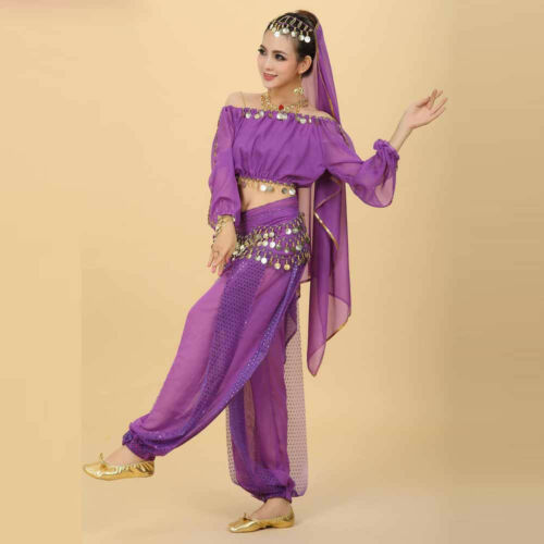 Belly Dance Costume Bra Top Set Indian dancing Skirt Clothes Pants Costumes New