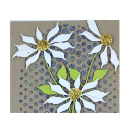 Ragged Daisy Metal Die Cut Flowers Stem Leaves Poppystamps Cutting Dies 1842