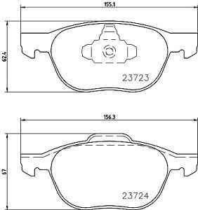 Mintex-Plaquettes-Frein-Avant-MDB2634-Brand-new-genuine-Garantie-5-an