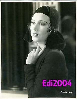 "FAY WRAY Vintage Original Dbl-Wght Linen-Bck Photo ""QUEEN OF SCREAMS"" Seductress"