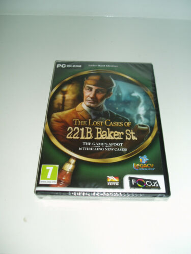 "1 of 1 - PC Game ""The Lost Cases of 221b Baker St.  (New & Sealed). 2010."