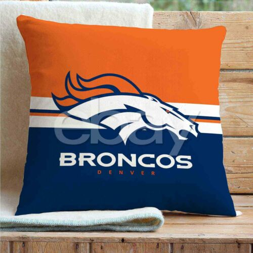 Denver Broncos Custom Pillows Car Sofa Bed Home Decor Cushion Pillow Case