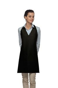 Daystar-Aprons-1-Style-300-Two-pocket-v-neck-tuxedo-apron-Made-in-USA