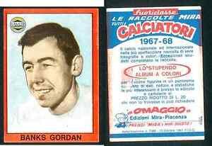 GORDON-Banks-Inghilterra-RARO-problema-ITALIANO-CALCIO-1967-68-EDIZIONI-MIRA-VG