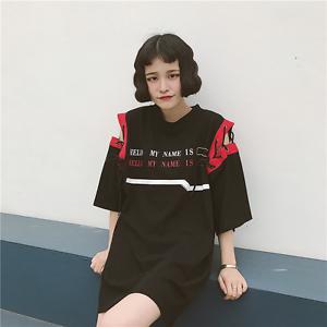 Das Beste T Shirt Harajuku Locker Kurzarm Sommer Schnürung Englisch Aufschrift