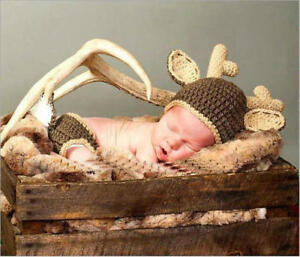 Newborn Baby Girls Boys Crochet Knit Costume-Photography Fashion Outfits B0S3