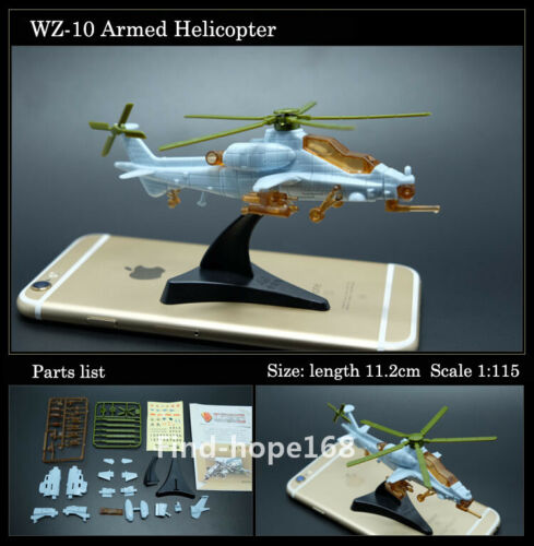 4D Assembled Fighter Airplane Helicopter Model Collection Puzzle Figure 1:165