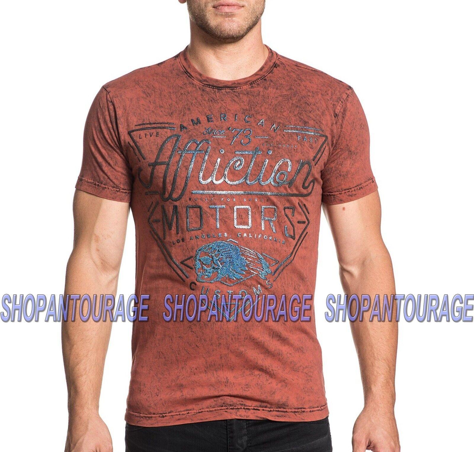 AFFLICTION AC Cali Motors A18581 Short Sleeve Graphic Fashion T-shirt for Men