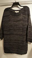 Jones York Sport $79 Xlnavy Blue Ribbon Knit Cotton Sweater