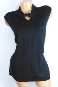 Harve-benard-black-plus-size-twist-detail-cutout-sleeveless-sweater-top-1X