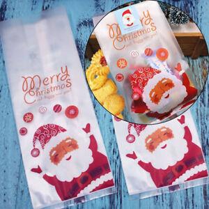 50pcs-Christmas-Bag-Santa-Claus-Cellophane-Gift-Cookie-Fudge-Candy-Bag-For-Party