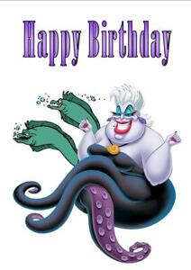 """Personalised Printed /""""URSULA/"""" Birthday Card Any Age Name"""