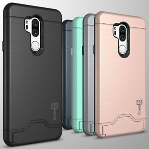 For-LG-G7-ThinQ-Phone-Case-Card-Holder-Kickstand-Shockproof-Slim-Cover