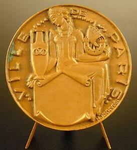 Medaglia-Emblema-e-Simbolo-Della-Ville-di-Parigi-Squadra-Tschudin-Sc-48mm-Medal