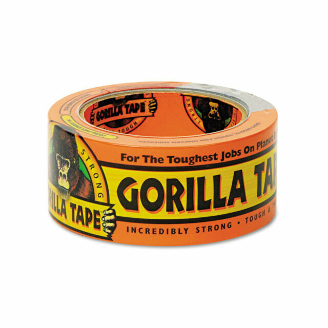 Pack of 6 Black, Gorilla Heavy Duty and Double Thick Duct Tape 1.88 x 12 yd