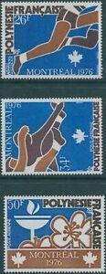 French-Polynesia-1976-SG221-223-Olympic-Games-set-MNH
