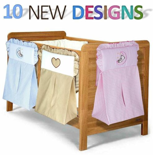 NAPPY STACKER DIAPER BAG BABY NURSERY EMBROIDERY BEDDING FOR CRIB COT COTBED