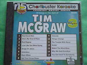 Details about Tim McGraw~#3~Chartbuster Karaoke~90286~~Live Like You Were  Dying~~Unbroken~CD+G