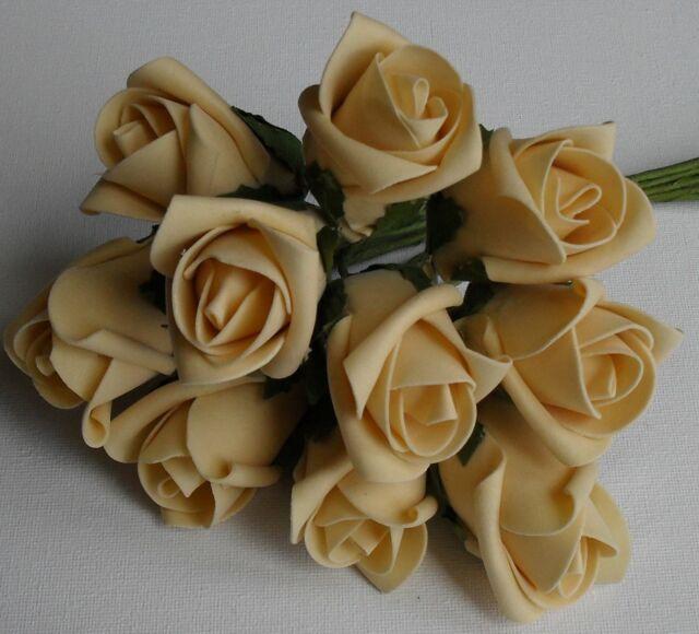 Colourfast Artificial Foam Rose Bunch Wedding Flower Craft Floral Arrangement