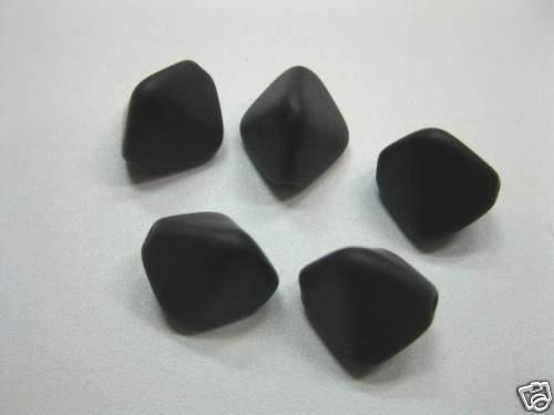 6 perles de verre double cône 12mm noir mat perles 2011