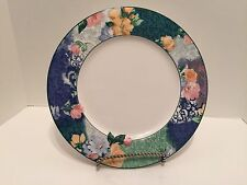 Christopher Stuart French Brocade Fine China HK219  - Large Chop Plate 12""