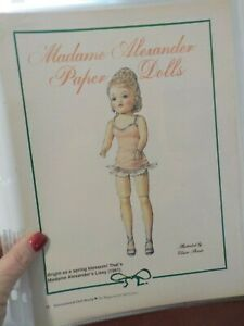 NICE-UNCUT-PAPER-DOLL-MADAME-ALEXANDER-DOLL-LISSY-1961-BY-ELAINE-SHANTS