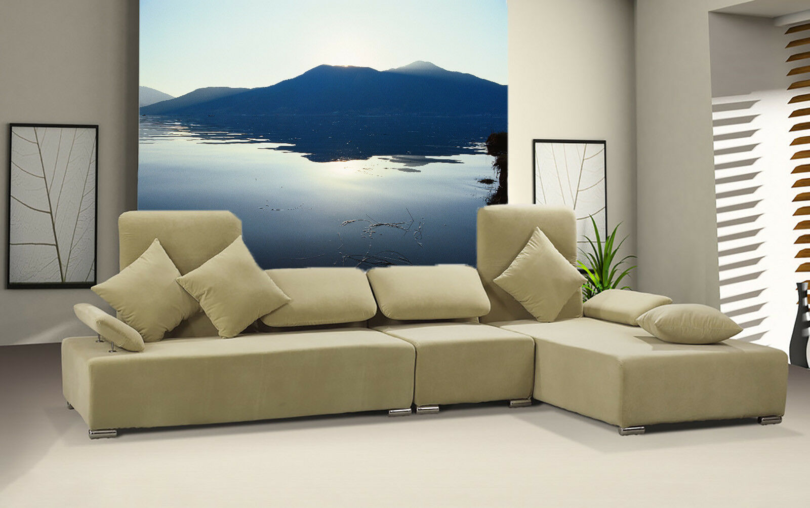 3D Lake Mountain 466 Wall Paper Wall Print Decal Wall Deco Indoor Mural Summer