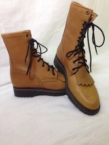 12 women s vintage tony lama roper lace up boot tan sz 6 b nice ebay