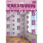 Unique Party 5 FT Hanging Glitz Prism 18th Birthday Decorations (pack of 6 Pink