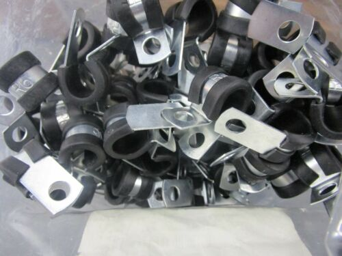 """PACK OF 50 UMPCO S325G6 Cushioned Cable Clamp Steel 3//8/"""" Plated 1//2/"""" Wide"""