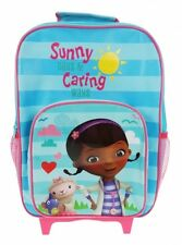 Disney Doc Mcstuffin Sunny Day & Caring Way School Travel Trolley Roller Bag New