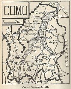Cartina Geografica Provincia Di Cremona.Details About A4873 Provincia Di Como Carta Geografica Antica Del 1953 Old Map